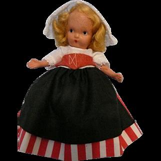 Nancy Ann Jointed Legs, Pudgy Tummy Dutch Doll