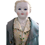 Porcelain Colonial Doll Marked Clear