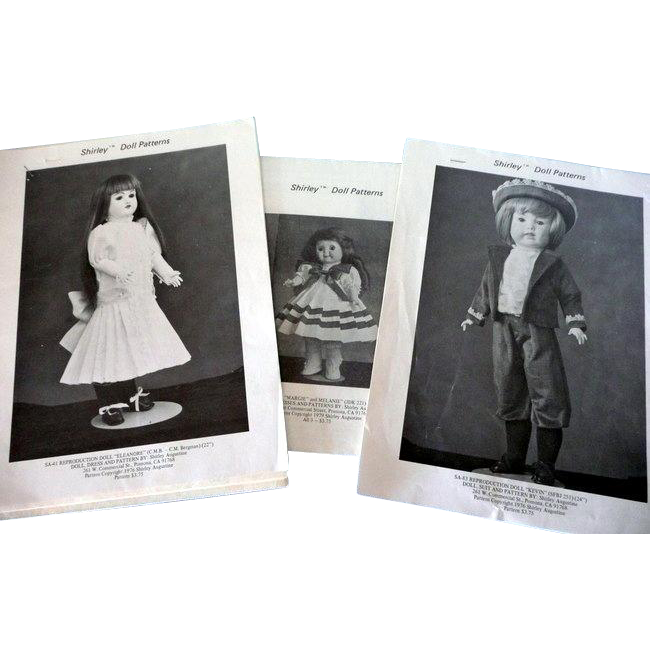 Vintage Patterns by Shirley for Reproduction Dolls