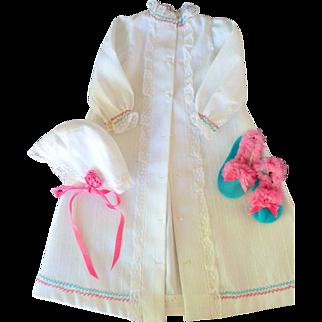 Three Piece Robe Set for Fashion Doll