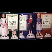 Three American Girls Paper Dolls, 1990's Uncut