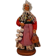 Vintage French Garlic Seller Santon