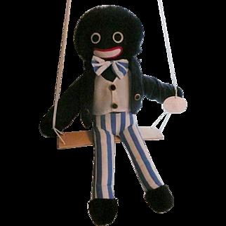 Golliwog on a Swing