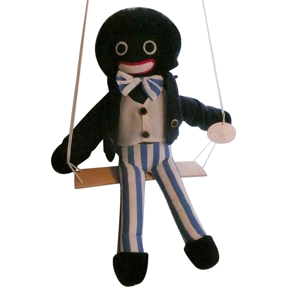 Golliwog on a Swing