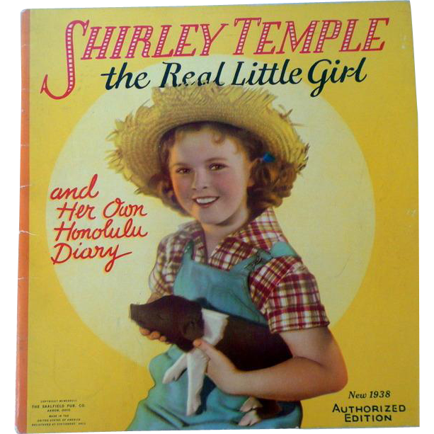 1948 Authorized Edition of Shirley Temple the Real Little Girl Book