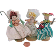 Vintage Wooden Bead dolls