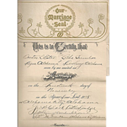 Unusual Vintage Marriage License/Divorce Papers