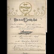 Unusual Vintage Marriage License/Divorce Papers