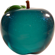 Orient & Flume Signed Green Apple Paperweight