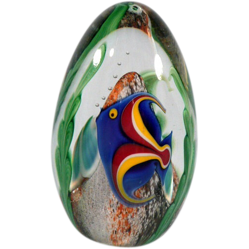 Orient & Flume Glass Egg Paperweight