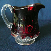 Victorian Ruby Flash Souvenir Pitcher