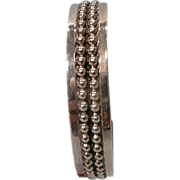 Vintage Taxco Sterling Silver Signed Cuff Bracelet