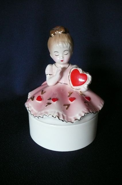 Heart Josef Ceramic Trinket Box