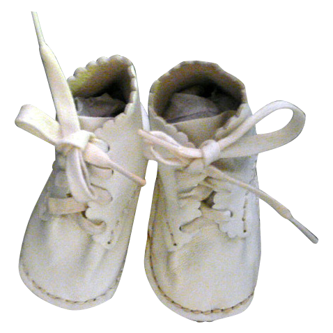 sweet vintage leather baby shoes from ccy on
