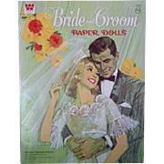 1968 Bride and Grooom Paper Dolls, Uncut