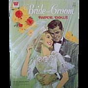 1968 Bride and Grooom Paper Dolls, Uncut