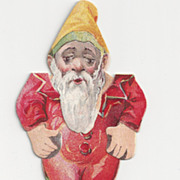 Vintage Advertising Gnome/Elf Paper Doll