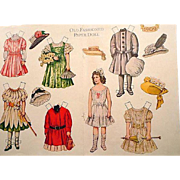 Uncut Old Fashioned Paper Doll from the Jack and Jill Magazine 1954