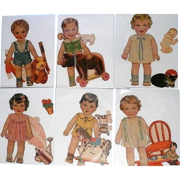 Little Brothers and Little Sisters 1936 Cut Out Dolls