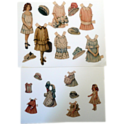 Lettie Lane Magazine Paper Doll and  Her Dolly