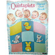1964 The Quintuplets Paper Doll Book Uncut