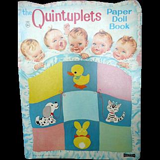 1964 The Quintuplets Paper Doll Book Uncut