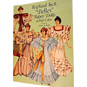 """Raphael Tuck """"Belles"""" Paper Dolls uncut Book"""