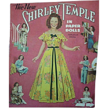 1942 Authorized Uncut The New Shirley Temple in Paper Doll