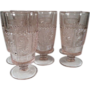 Westmoreland Princess Feather Glass Tumblers