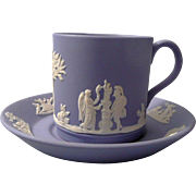 Wedgwood  Blue Jasperware Demitasse Set