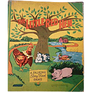 The Little Red Hen A talking Story Book Game 1940's