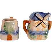 Vintage Windmill Creamer and Sugar Set MIJ