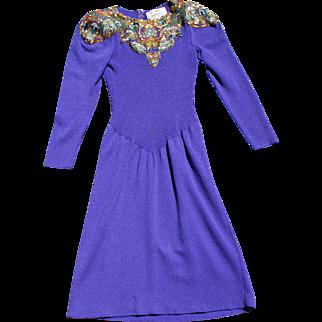 Vintage Pat Sandler for Wellmore Beaded Dress