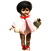 "8"" Black Ginny Doll in sunsuit attire by Vogue 1987"