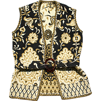 Beautiful Woven Vest with Belt