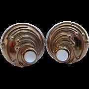 Estate Moonstone Earrings - 9 Carat