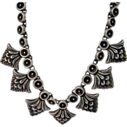 Early Mexican Sterling Silver Chocker Necklace