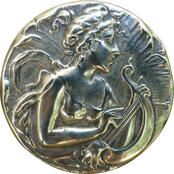 Silver Art Nouveau Trinket Box - England
