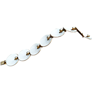 Sterling Gilt Enamel Bracelet, Norway, Hans Myhre