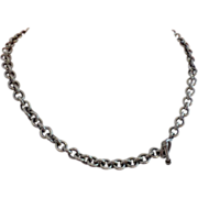 Vintage Sterling Silver Circular Cable Necklace - RoloType
