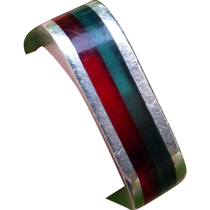 Modernist Sterling and Lucite Ring