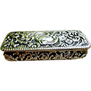Victorian Gilt Sterling Silver Vinaigrette /Snuff Box, Birmingham - England