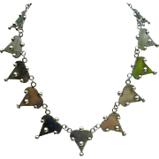Necklace, Pre Eagle Mark, 980 Sterling Silver -Taxco, Mexico