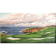 """The 8th Hole Pebble Beach Golf Links"" Linda Hartough Canvas"