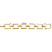 Estate Rectangular 14K Gold Link Bracelet