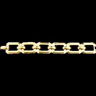 Estate Rectangular 14K Gold Link Bracelet
