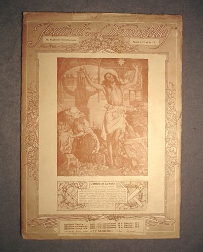 1916 French Women's Journal, Christ on Cover, Fan & Decorative Patterns