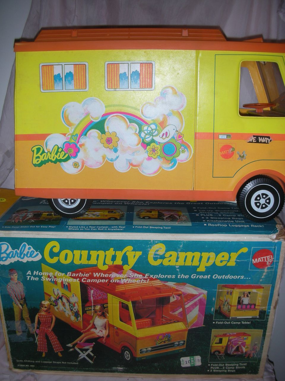 Vintage Mod Era Barbie Doll Country Camper in Box