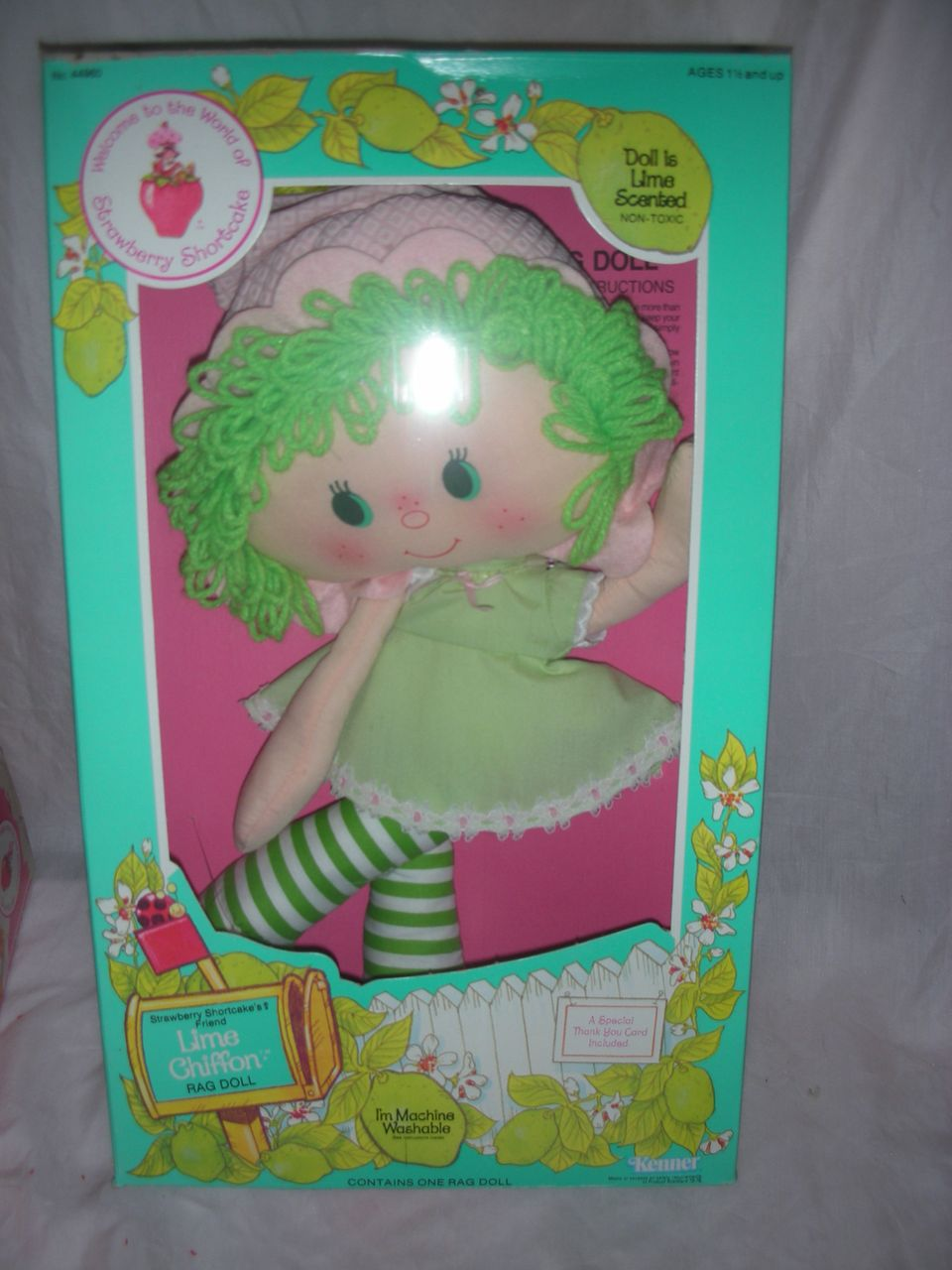 Vintage Lime Chiffon Strawberry Shortcake Rag Doll NRFB from rubylane ...