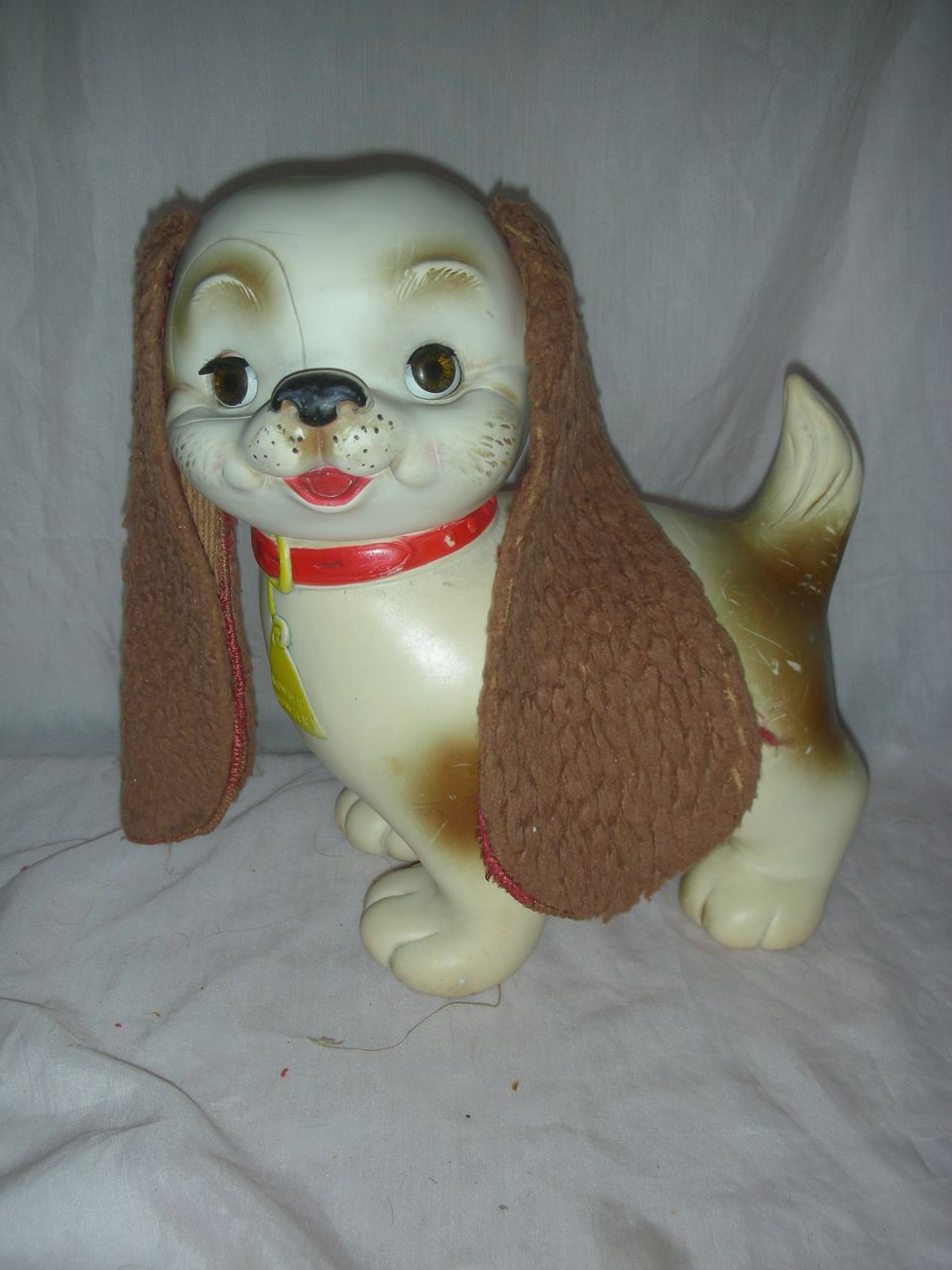"Rare ""Bowser Wowser"" Toy Dog by The Edward Mobley Arrow Rubber Company"